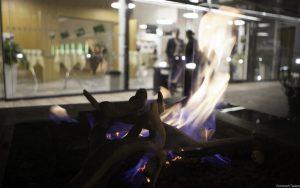 Feuer im WIFI Außenbereich